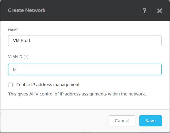 domalab.com Nutanix VM Network create