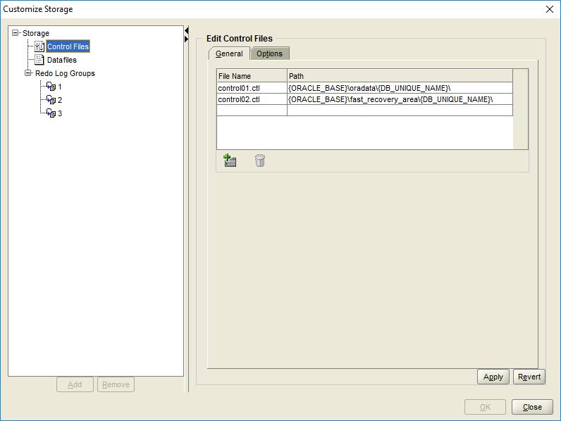 domalab.com create oracle database custom storage