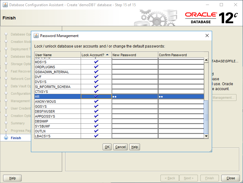 domalab.com create oracle database password management