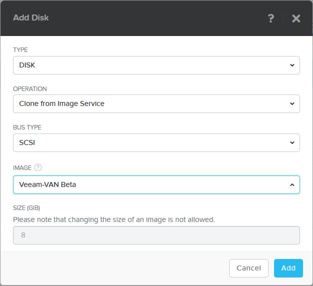 domalab.com Install Veeam VAN add disk