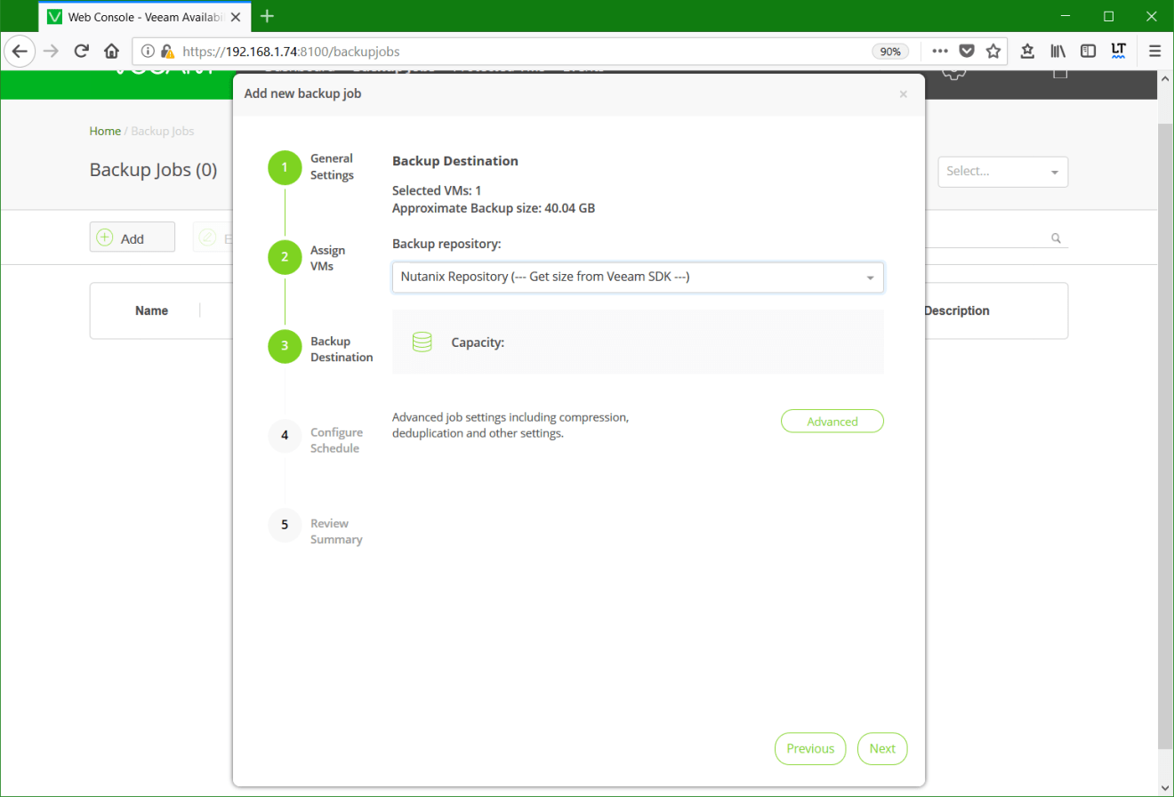 domalab.com Backup Nutanix target