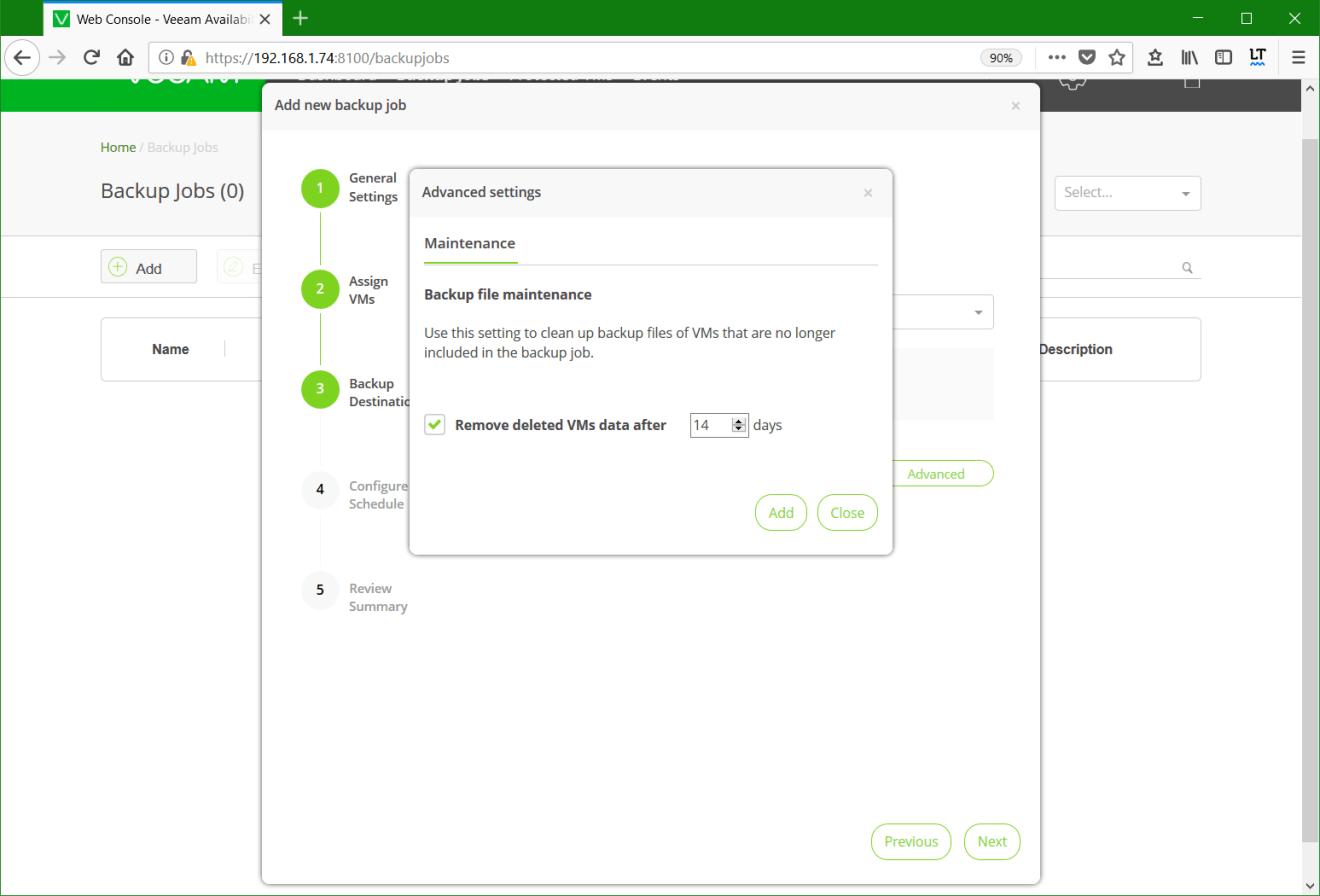 domalab.com Backup Nutanix job maintenance