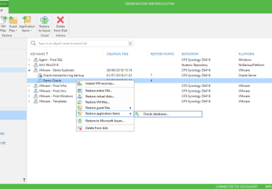 How to Restore Oracle Databases with Veeam