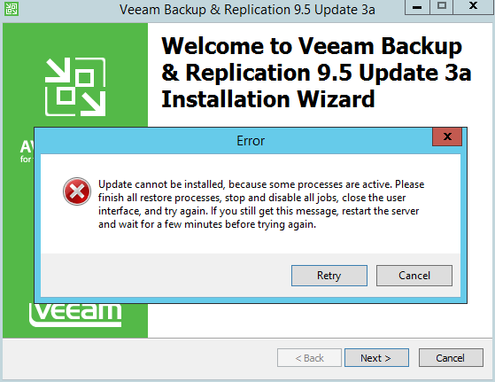 domalab.com Veeam Backup upgrade wizard