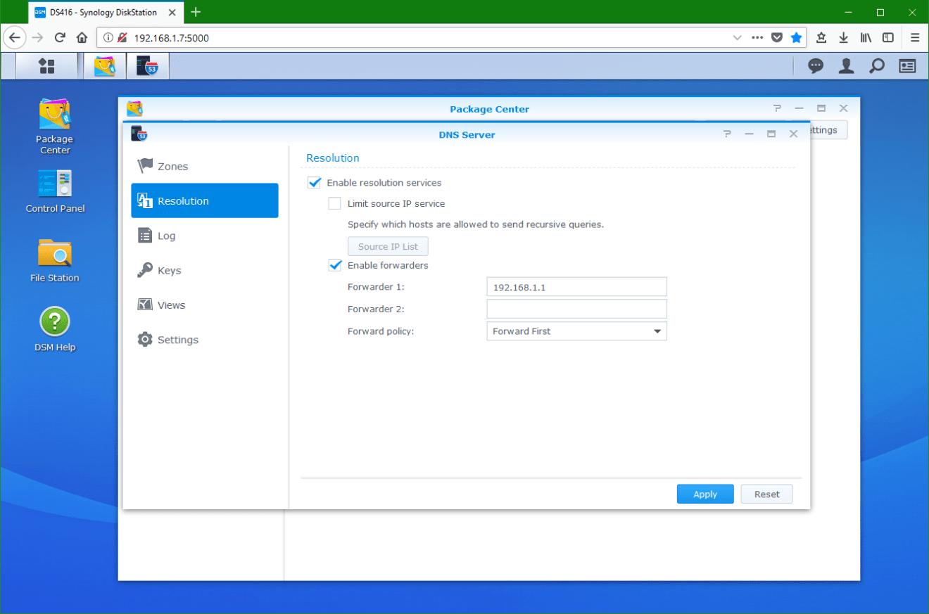 domalab.com Synology DNS configuration