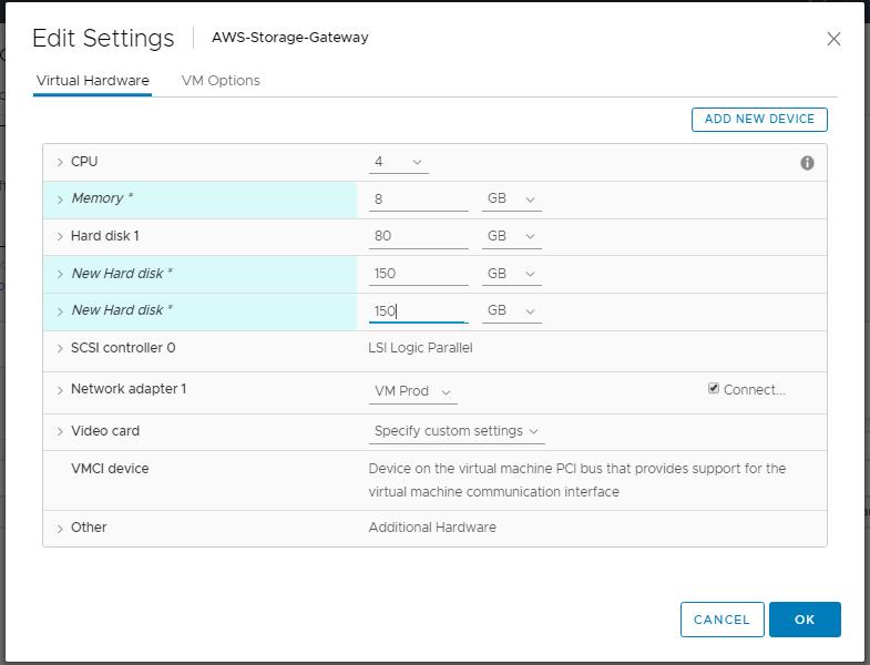 domalab.com AWS Storage Gateway edit disk settings