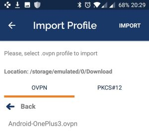 domalab.com Connect Android import profile