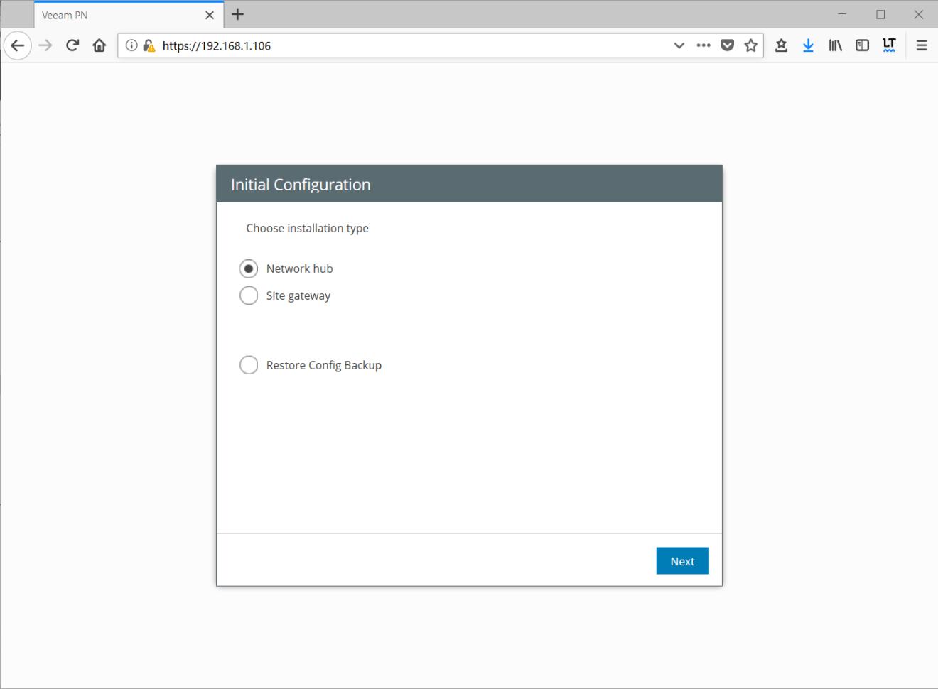 domalab.com Veeam PN initial configuration