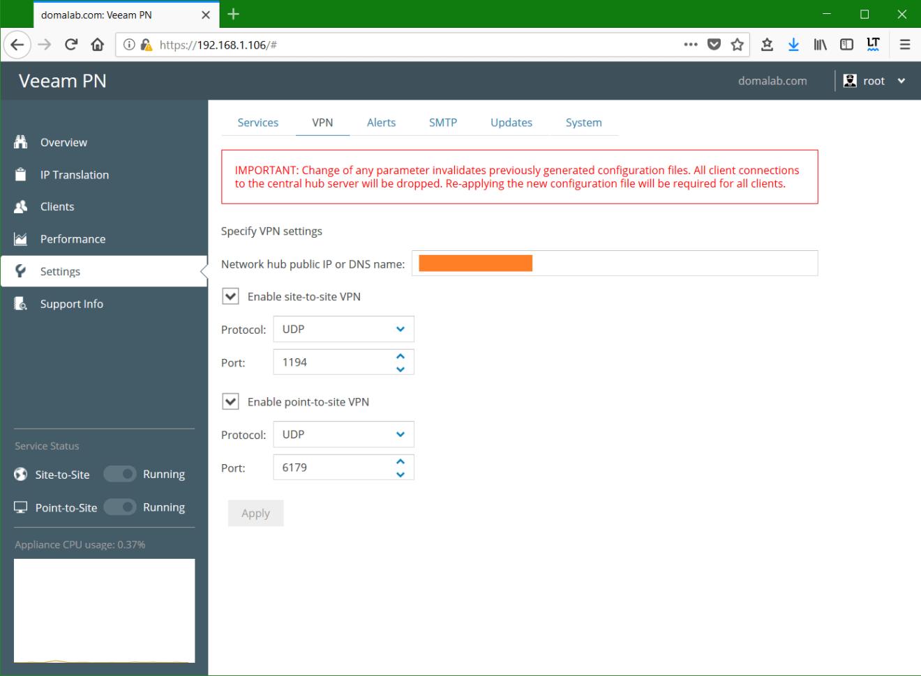 domalab.com Veeam PN VPN