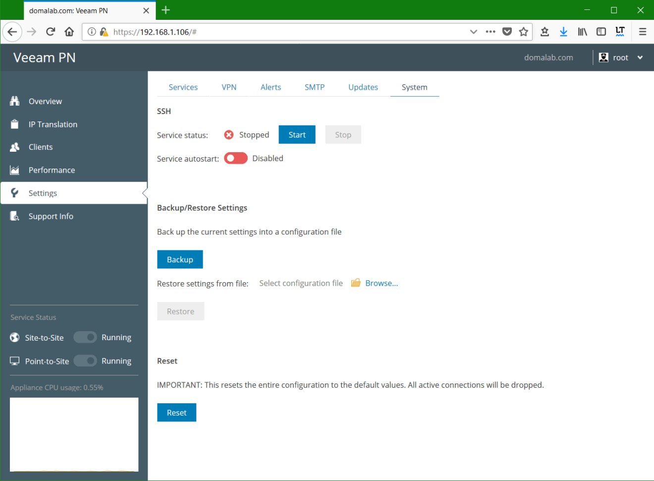 domalab.com Veeam PN system