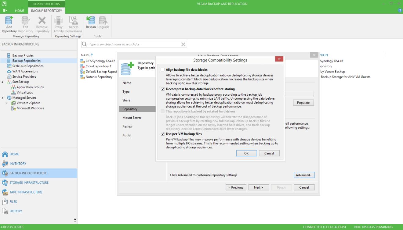 domalab.com Quantum DXi integration Veeam storage settings