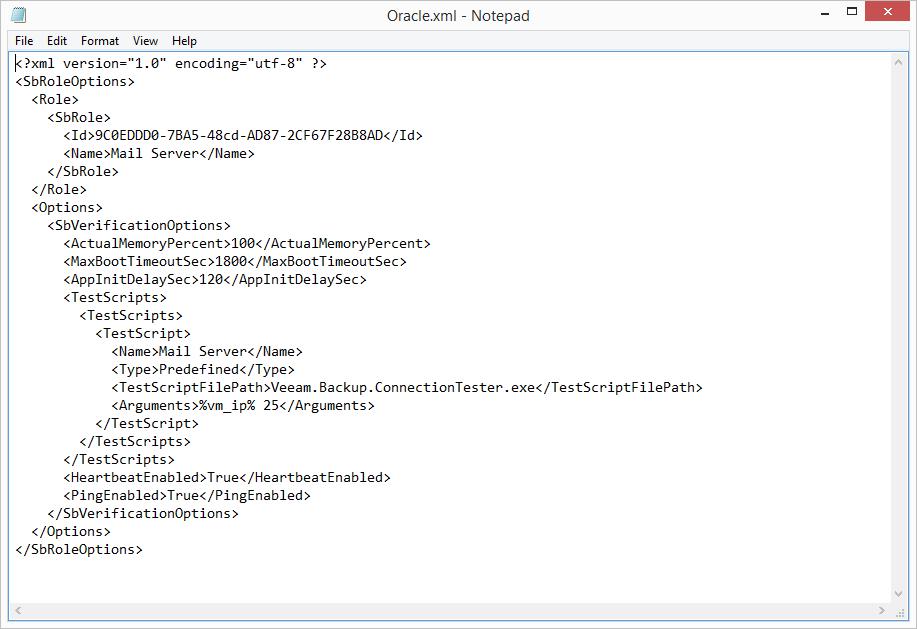 domalab.com Veeam custom SureBackup SBRole xml template