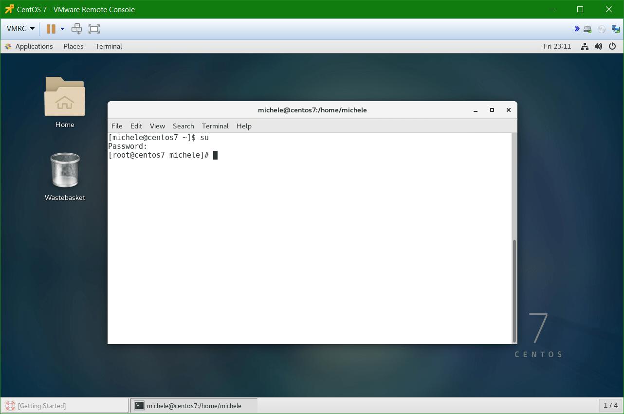 domalab.com Linux CentOS 7 install su root