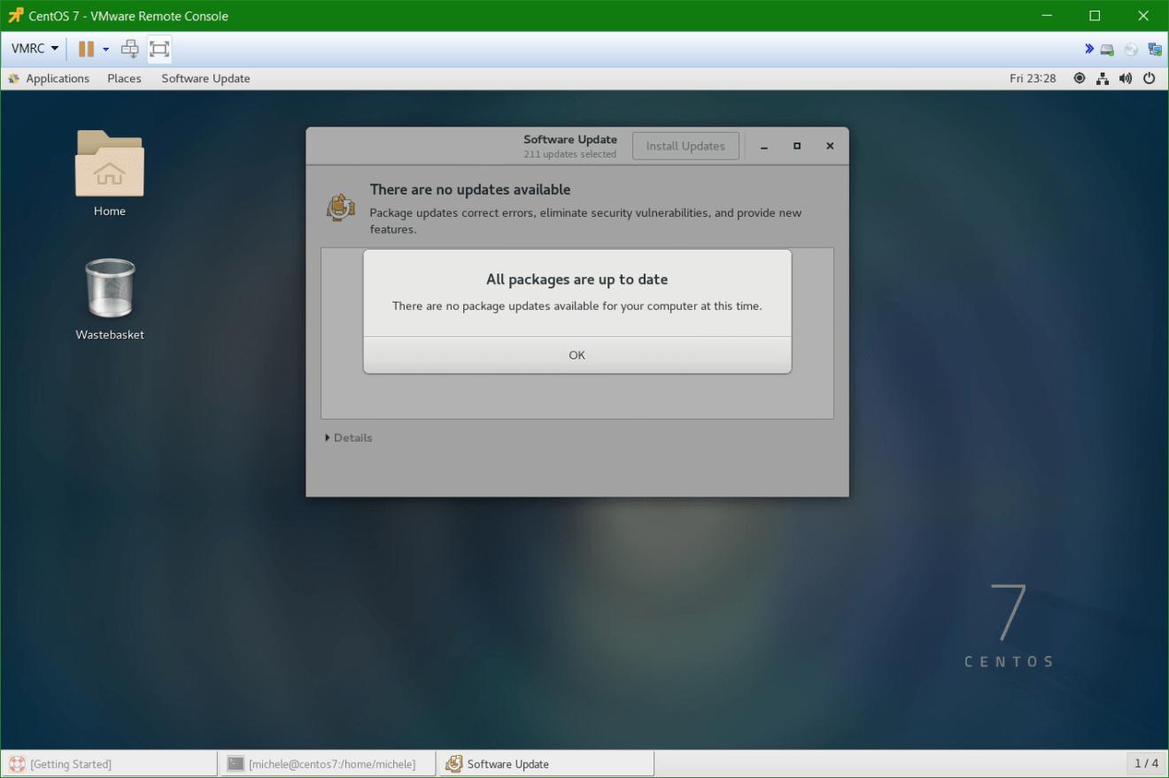 domalab.com Linux CentOS 7 install all updates