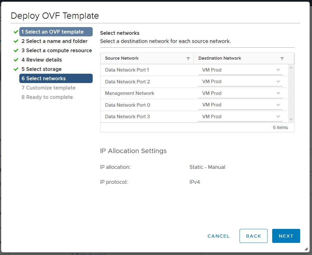 domalab.com Dell EMC Unity VSA select network