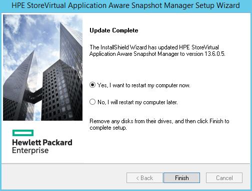 domalab.com HPE Application Snapshot Manager server restart