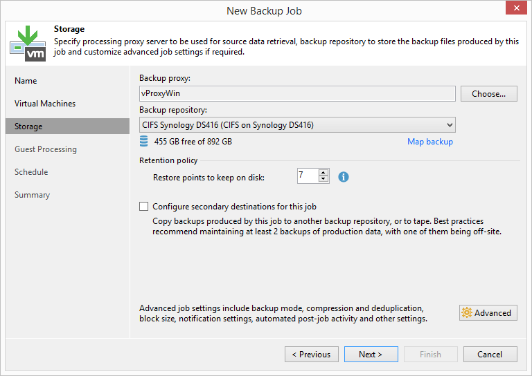 domalab.com HPE StoreVirtual Backup veeam storage settings