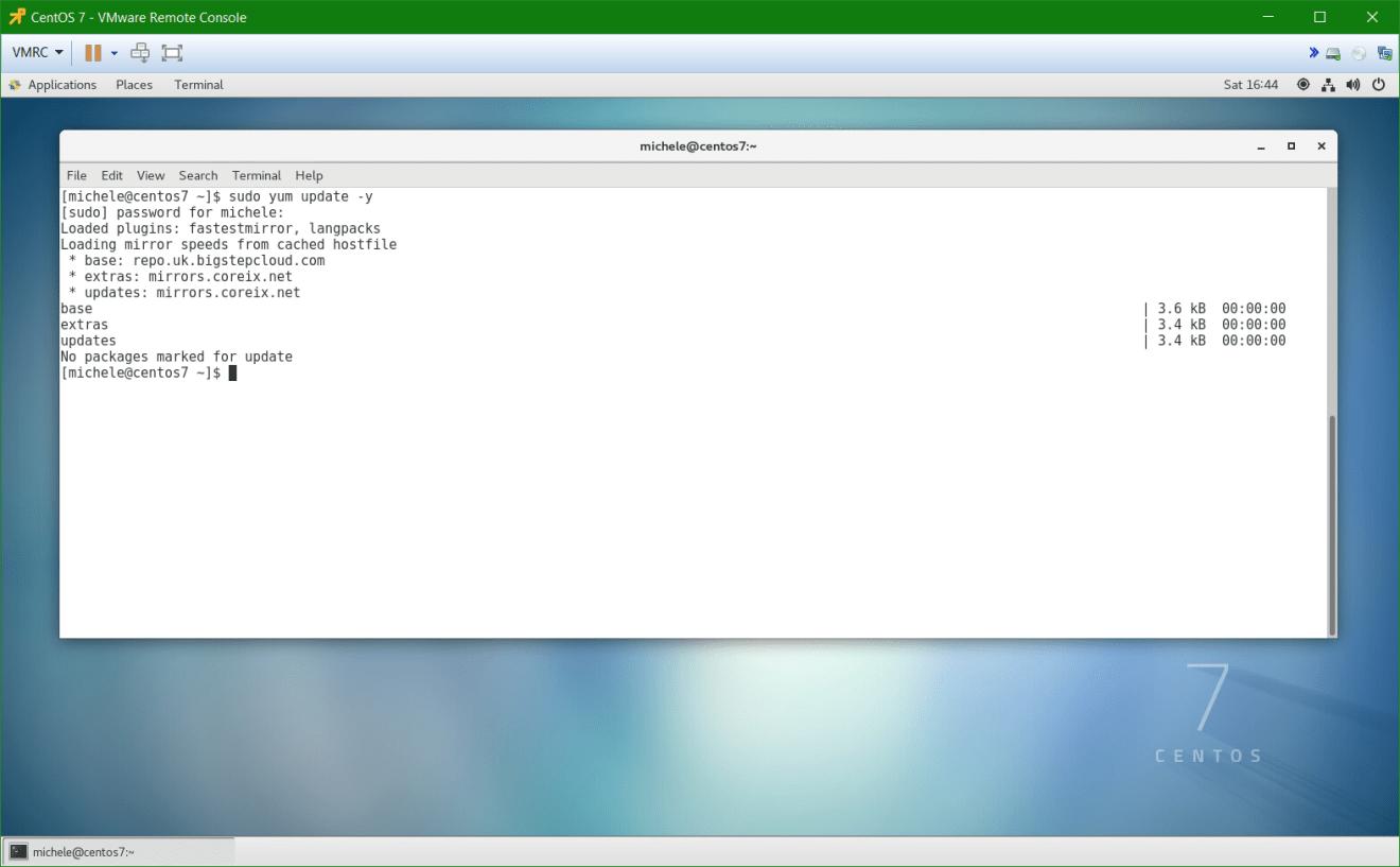 domalab.com install postgreSQL pgAdmin CentOS 7 yum update