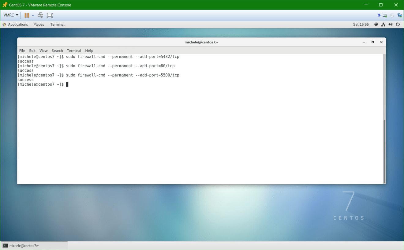domalab.com install postgreSQL pgAdmin CentOS 7 firewall add