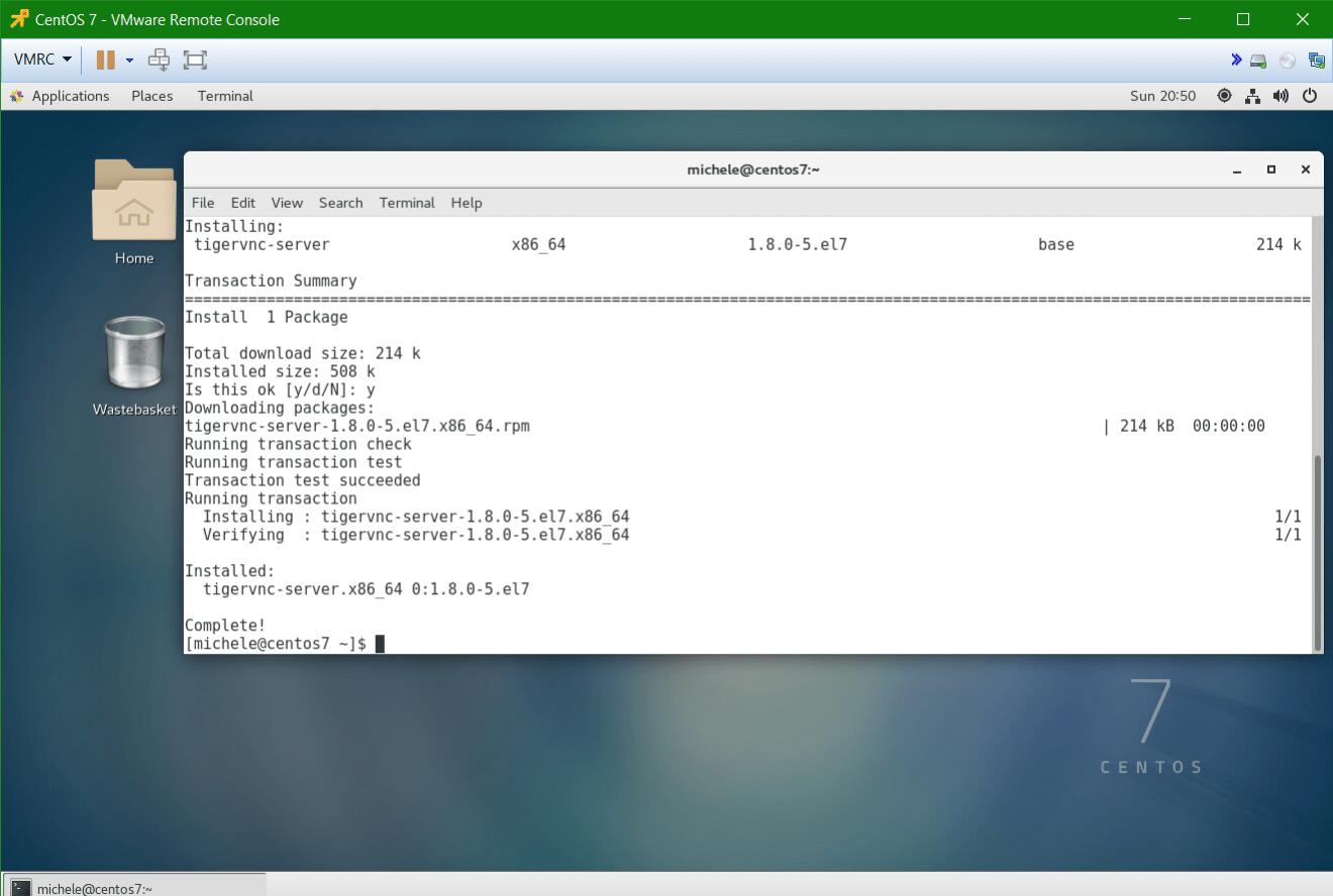 domalab.com Linux CentOS 7 Remote tigervnc server