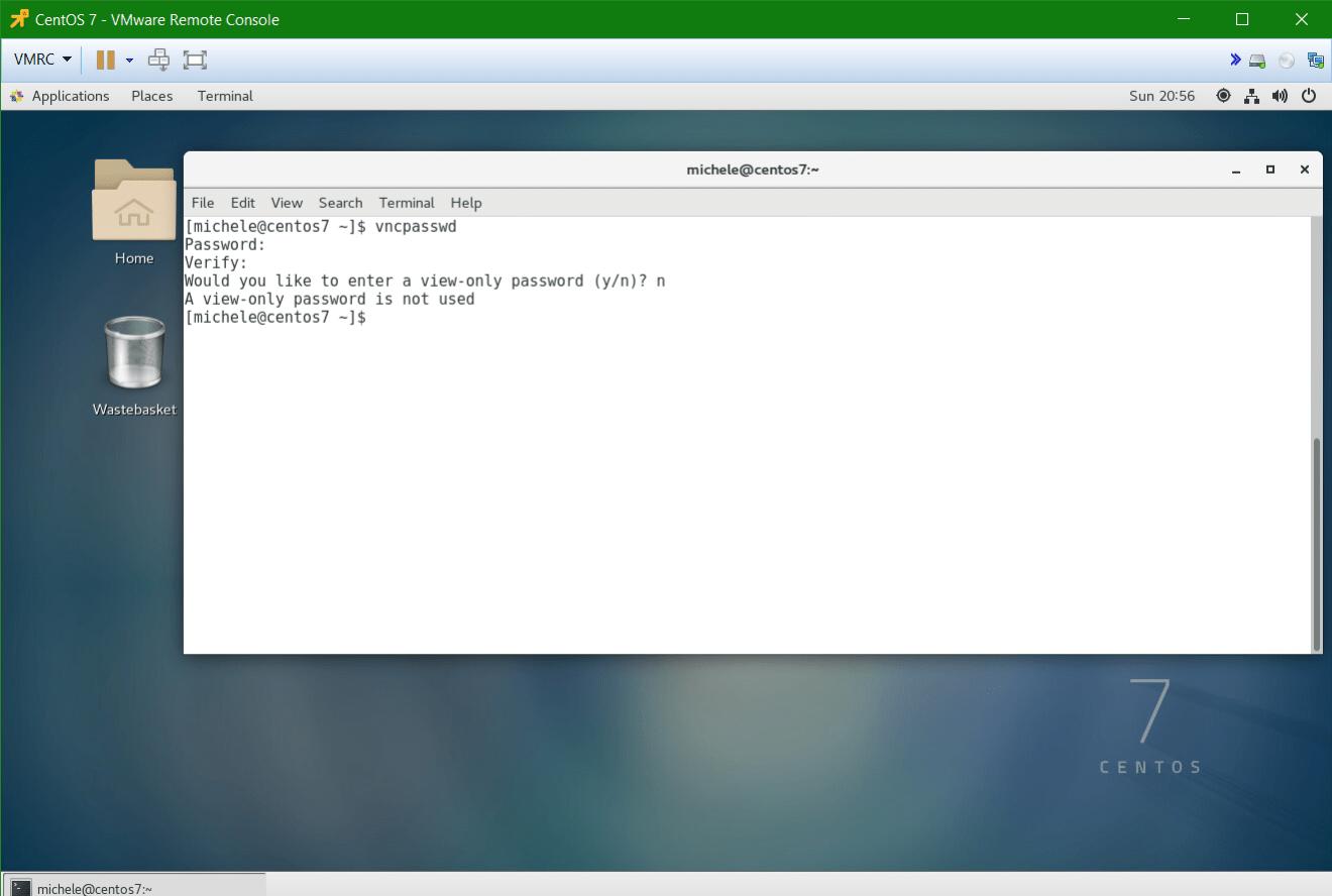 domalab.com Linux CentOS 7 Remote vnc password