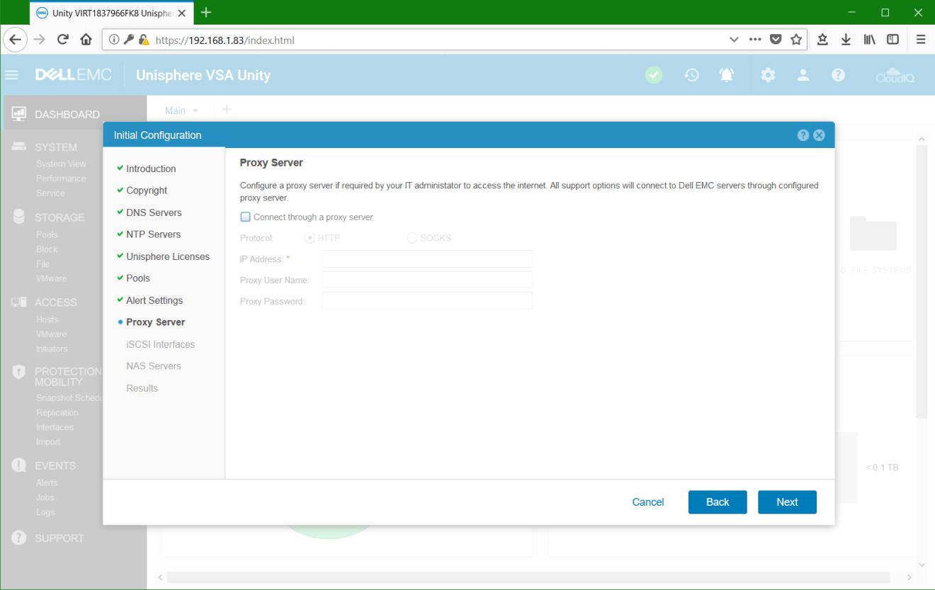 domalab.com Dell EMC Unity VSA proxy server