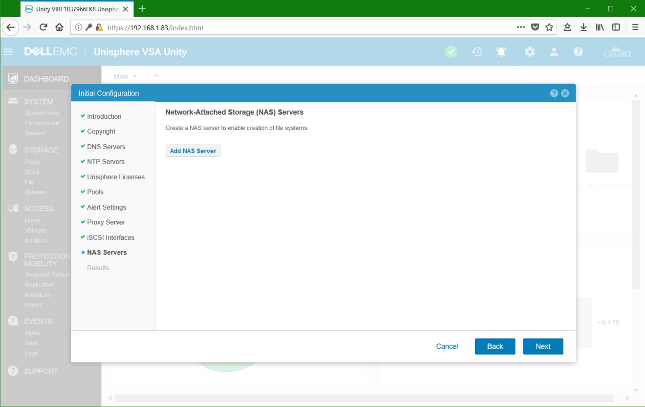 domalab.com Dell EMC Unity VSA add NAS Server