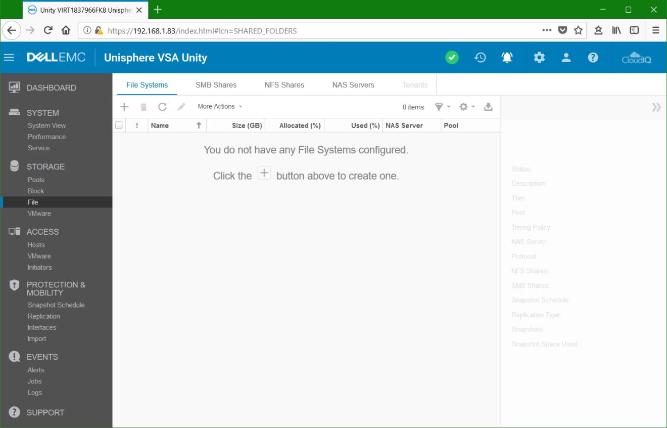 domalab.com Dell EMC Unity File System Unisphere