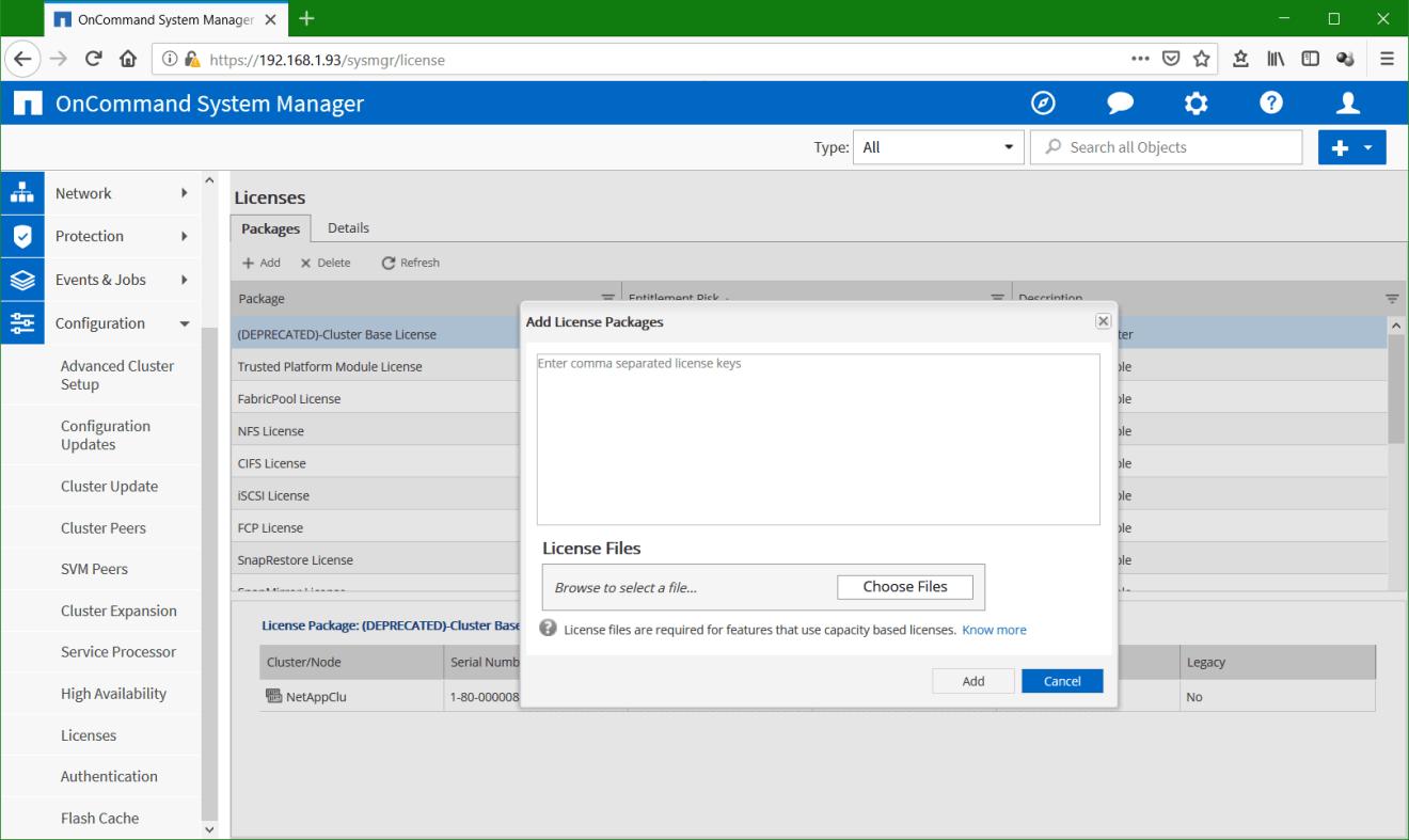 domalab.com Configure NetApp ONTAP license add