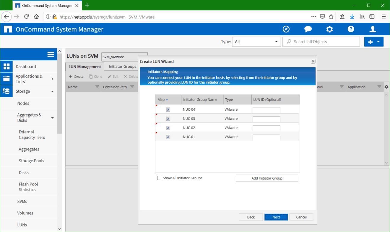 domalab.com Configure NetApp ONTAP LUN initiator mapping