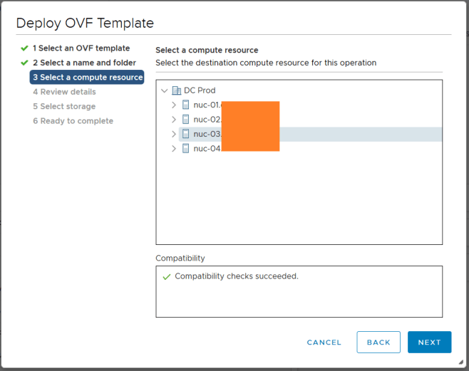 domalab.com Deploy Netapp ONTAP Sim ova compute resource