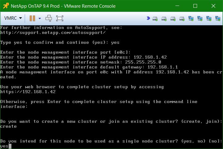 domalab.com Install NetApp ONTAP cluster