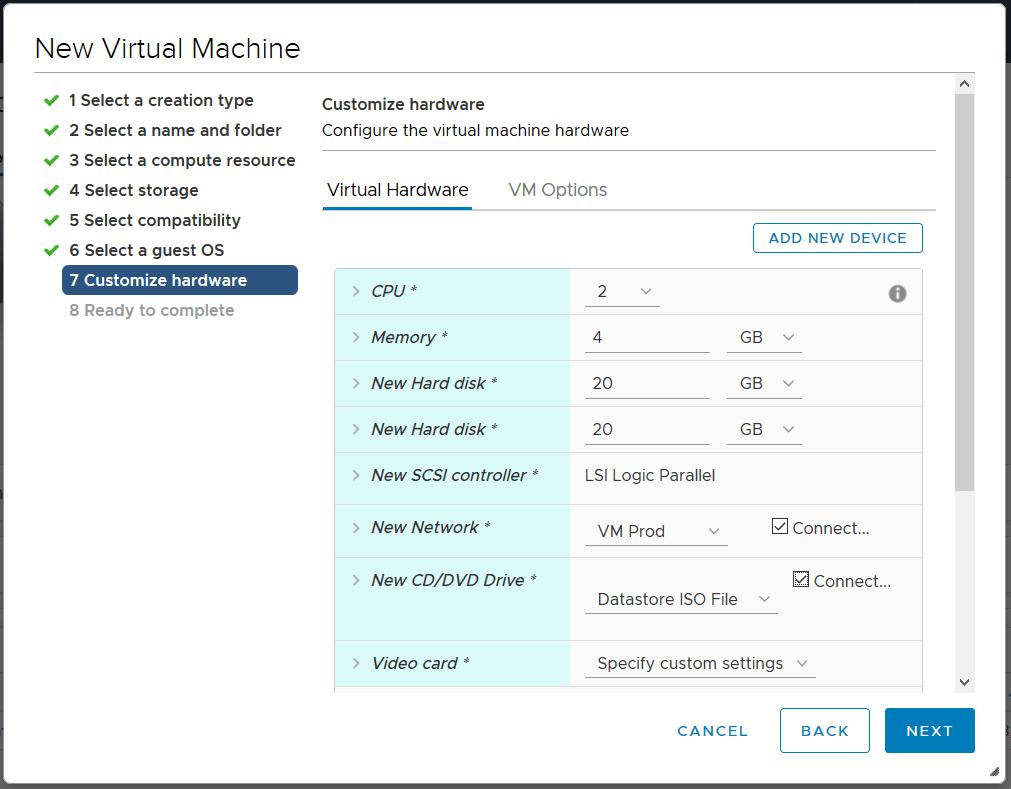domalab.com deploy Ubuntu Server VMware customize hardware
