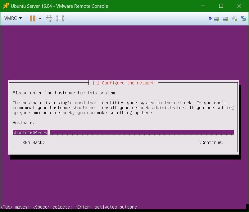 domalab.com Install Ubuntu Server VMware configure network