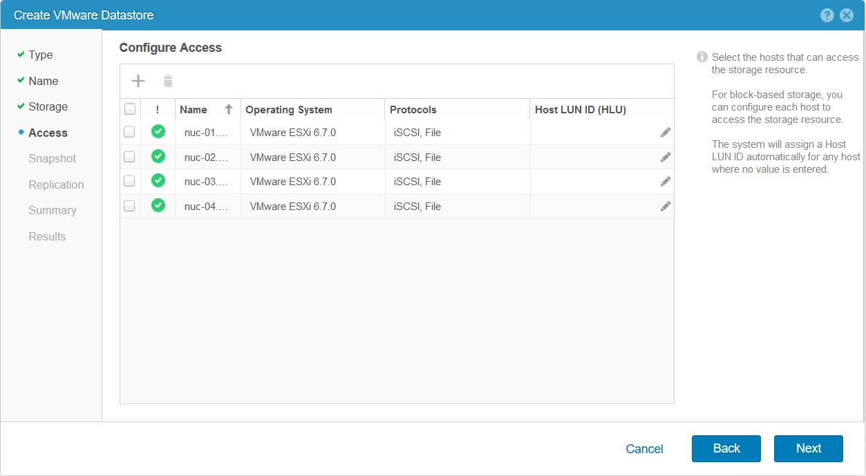 domalab.com Dell EMC Unity storage datastore access
