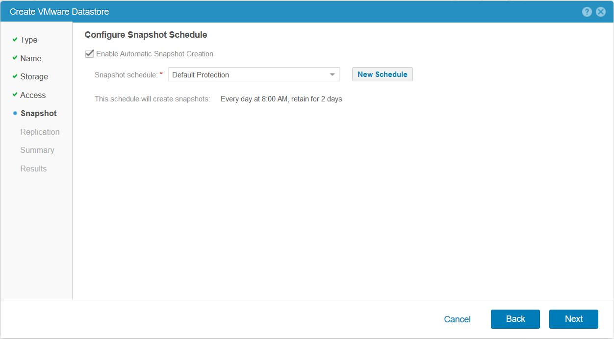 domalab.com Dell EMC Unity storage datastore snapshot