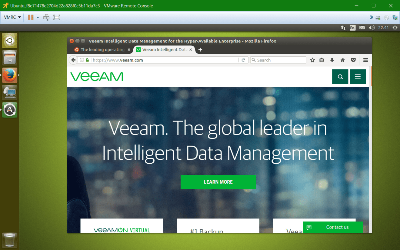 domalab.com Veeam Sandbox on-demand ubuntu web