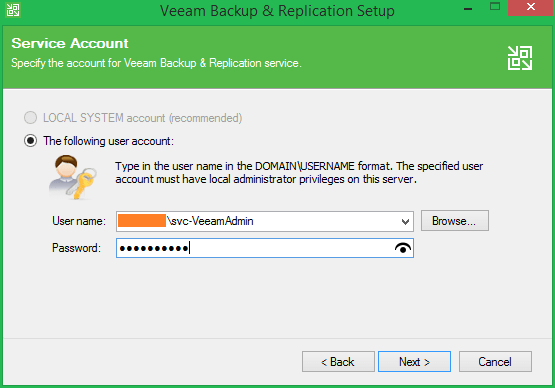 domalab.com Veeam Update 4 service account