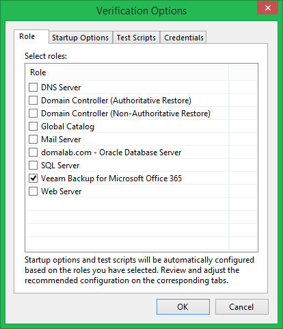 domalab.com Veeam DataLabs test