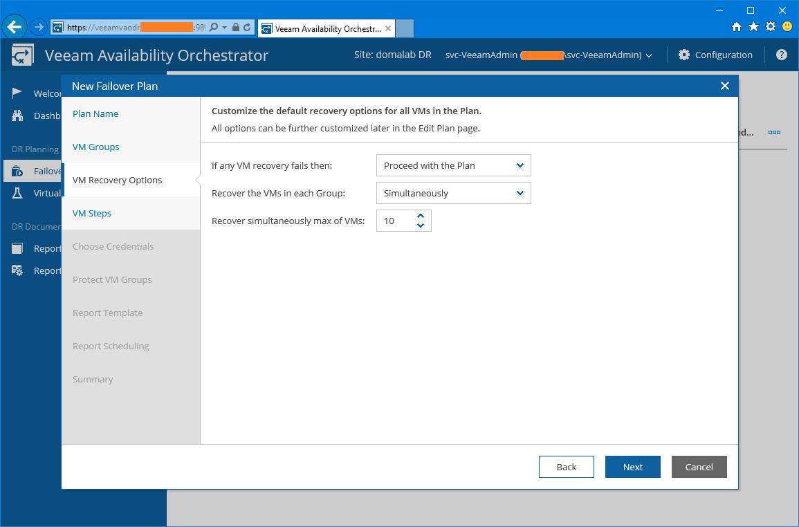 domalab.com Veeam VAO failover plan