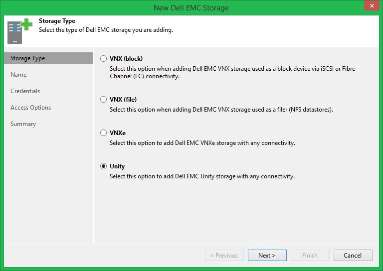 domalab.com Veeam Dell EMC integration UnityVSA