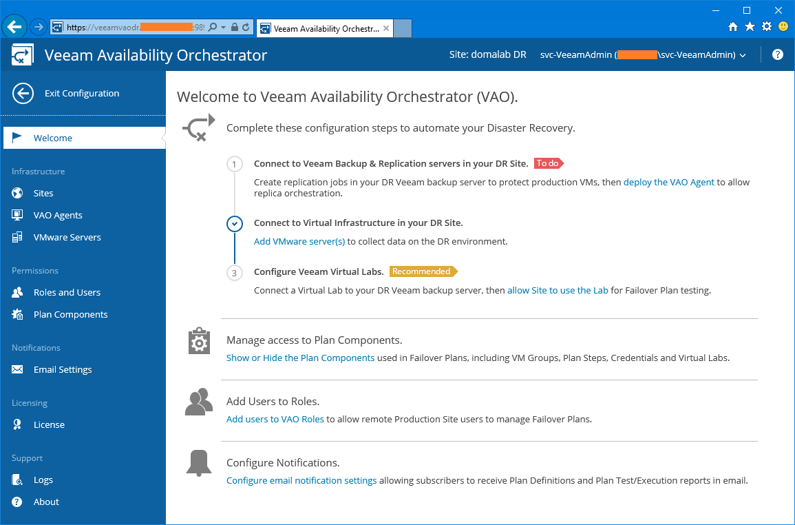 domalab.com Veeam VAO Virtual Lab