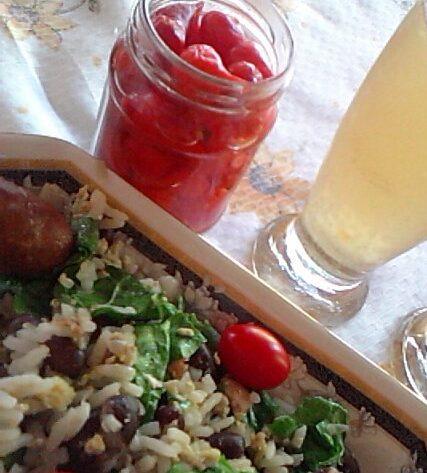 mexidão de arroz e feijão vermelho