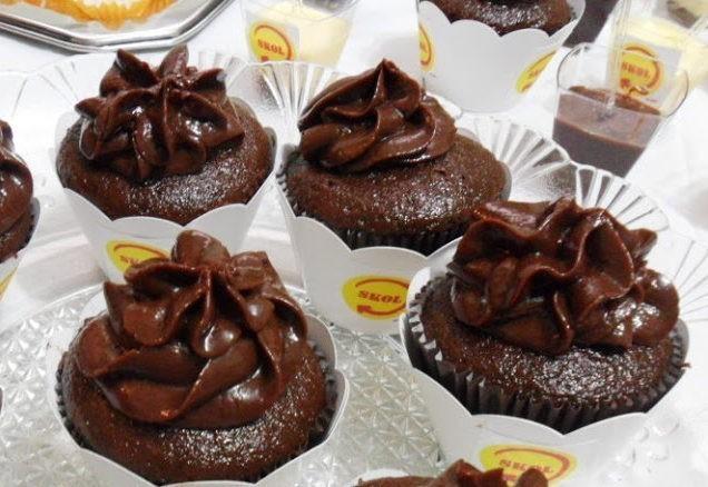 Cupcake de Chocolate com Cobertura de Nutella