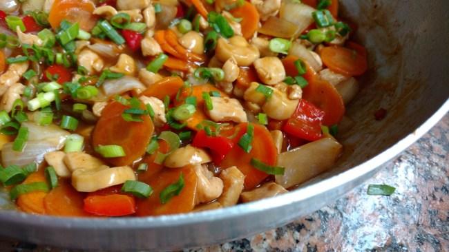 frango xadrez comida oriental típ