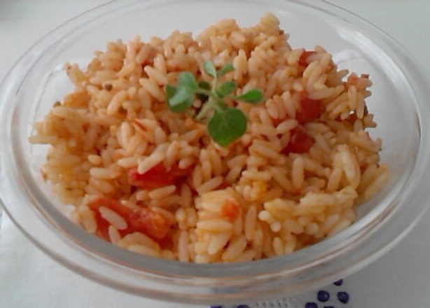 arroz com tomates