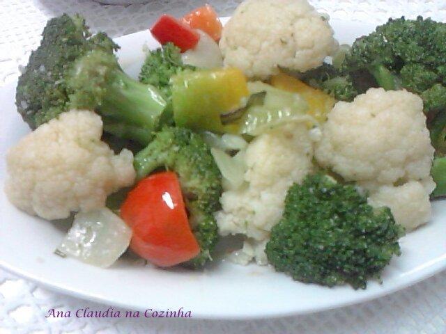 legumes salteados no azeite e alho