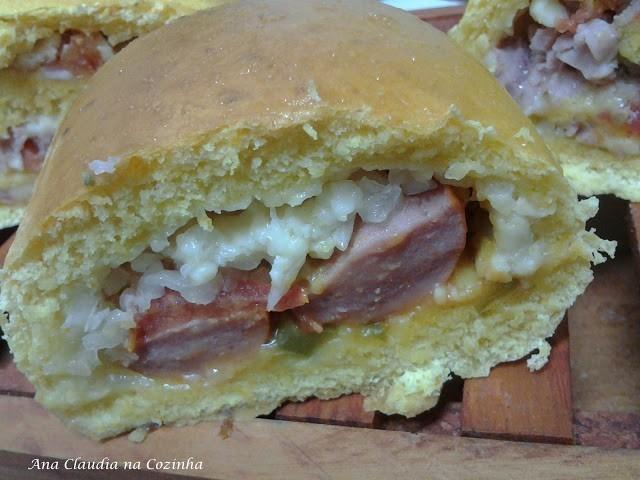 pão de cenoura recheado