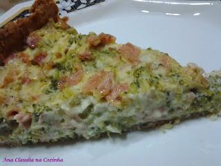 Quiche de Brócolis e Presunto