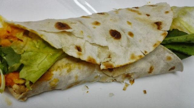 Wrap com frango e queijo sem lactose